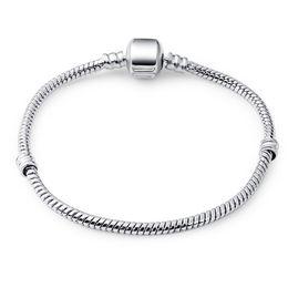 $enCountryForm.capitalKeyWord UK - BELAWANG 2018 New Fashion Snake Chain 925 Silver Bracelet Fit Original Charm Bracelet Bangle Charm Bead For Women Gift 17CM-21CM