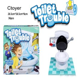 New Crazy Toys NZ - New kids toy Toilet trouble game Washroom Tricky Toys Parents-kids Friends Play Together For Fun crazy toilet with Flush Sound Effects
