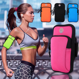$enCountryForm.capitalKeyWord NZ - Portable Cycling Running Hiking Wrist Band Bag Outdoor Sports Phone Pouch Bag Armband Package Mobile Phone Strap Pocket Holder Wallet Case
