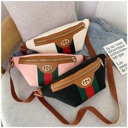 $enCountryForm.capitalKeyWord NZ - Classic Stripe Lady Brand Waist Bag Tide Letter Ornament Women Chest Bags Personality Gifts Design Female Trendy Bags