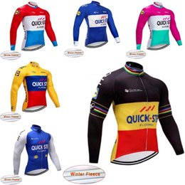 Hot Sale! Quick step Men cycling jersey long sleeve Winter Thermal Fleece cycling  clothing Mountain Bike wear MTB Bicycle clothes A21 cfc1f3816