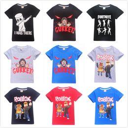 e60f2a436 Children Roblox Print T-shirts Teen Boys Girls 100% Cotton Short Sleeve Top  Tees For Kids Shirts DHL Ship