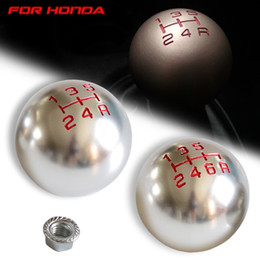 types levers Canada - Chrome Car 5 6 Speed Manual Gear Shift Knob Lever HandBall For Fit City FD2 FN2 EP3 TYPE R DC2 DC5 AP1 S2000 F20C