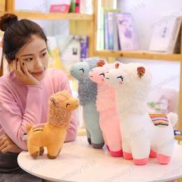 $enCountryForm.capitalKeyWord Australia - 35cm Rainbow Alpaca Vicugna Pacos Plush Toys for Children Japanese Soft Plush Alpacasso Baby Stuffed Animals Alpaca Gifts