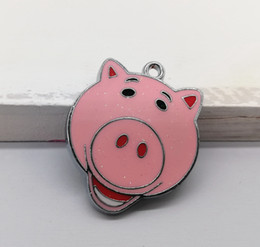 Anime Charms Wholesale Australia - Wholesale mixed Ocean wind anime pig DIY Metal pendants Charms Jewelry Making Gifts