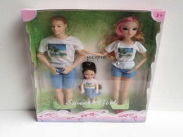 $enCountryForm.capitalKeyWord Australia - Baby Dolls Collection Sweet Family Set 3 Action Figures Mom Dad Girl Super Durable Plastic Kids Toys 72sets