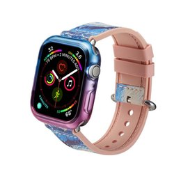 Cover For Smart Watch UK - Luxury Clear TPU Watch Case for Apple Watch Series 2 3 4 Colorful Gel Soft Front Screen Full Covered Cover for iWatch free freight