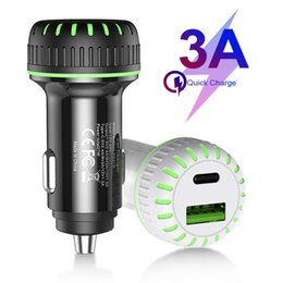 gp c Australia - LED Type c PD +QC3.0 Car charger 36W Fast Quick charging Car chargers For iphone ipad samsung htc android phone gps pc