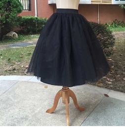 Women Tutu Plus Size Australia - Women White Princess Tulle Skirt Knee Length Junior Girls Lolita Cute Plus Size Grunge Jupe Female A Line Tutu Skirts New Puff
