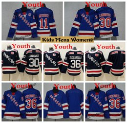 2019 Youth New York Rangers Hockey Jerseys 11 Mark Messier 30 Henrik  Lundqvist 36 Mats Zuccarello Kids Boys Womens Ladies Stitched Shirts 3a823a1ad