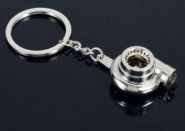 Car Refitting Australia - Metal key chain key hook blower ring chain pendant car refitted turbocharging hook