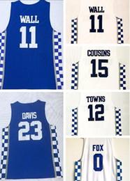 Fox wear online shopping - Discount Cheap buy Kentucky College fan clothing Basketball jerseys COUSINS FOX Towns BAMBA HOWARD DAVIS Basketball Wears