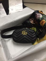 $enCountryForm.capitalKeyWord Australia - Best Classic Black Red White Real Leather Wasit Bag With Box Fashion Gold Hardware Men Women Belt Bag Free Shipping 476434