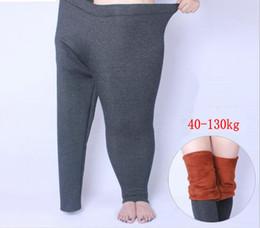 $enCountryForm.capitalKeyWord NZ - Winter Thick Legging Large size XL- 6XL for Elastic Soft Show Women All-match Black Leggings Plus Size cotton thicken soft Pants