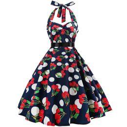 $enCountryForm.capitalKeyWord UK - White Sexy Polka Dot Dress 2019 Audrey Hepburn Vintage Halter Dress 50s 60s Gothic Pin Up Rockabilly Dress Plus Size Robe designer clothes