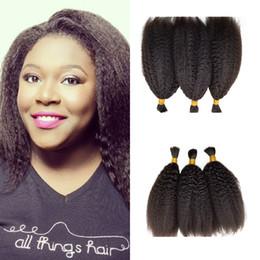 $enCountryForm.capitalKeyWord NZ - Hot Sale 3pcs Kinky Straight Bulk For Braiding Hair Natural Black For Black Women 8-26 Inch Wholesale Cheap Fdshinehair