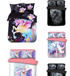 Cotton Express Australia - 2019 3D Unicorn hot selling Express Direct for Digital Printed Bedding Cover and Pillowcase