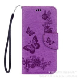 $enCountryForm.capitalKeyWord UK - Foreign Trade Explosion Samsung S8 Printed Cell Phone Cover Embossed Butterfly Insert Carpet Cover NOTE8 Revealed Wallet Cover