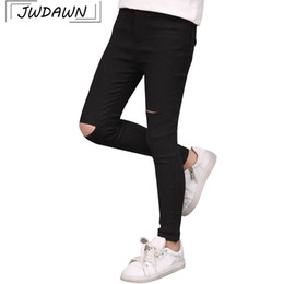 $enCountryForm.capitalKeyWord NZ - Broken Hole Solid Girls Jeans For Girls Trousers 2018 Summer Hot Sale Teenager Clothes Pants Children Clothing Jeans 4-13Y