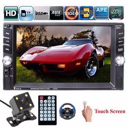 Car Mp3 Mp4 Player Bluetooth Australia - Freeshipping 6.6 Inch HD 2 Din MP3 MP4 Player Touch Screen Car FM Radio Stereo Bluetooth +Rear Camera 2 USB Port