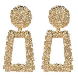 Vente en gros Mode européenne et américaine transfrontalière Geometry Metal Créative Grandes boucles d'oreilles en alliage anneau Boucles d'oreilles Bijoux pour femmes