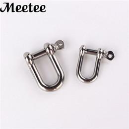 Bracelet fasteners online shopping - Metal Bag Buckles D Shackle Clasp Ring For Keyring Key Fastener Outdoor Rope Bracelet Buckle DIY Leather Bag Craft F1