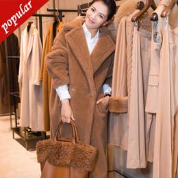 $enCountryForm.capitalKeyWord Australia - Winter Faux Fur Coat Teddy Bear Brown Fleece Jackets Women Fashion Outerwear Fuzzy Jacket Thick Overcoat Warm Long Parka W1690
