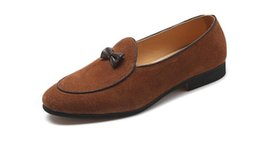 $enCountryForm.capitalKeyWord UK - Men Fashion Suede Leather Doug Shoes Casual Moccasin Flat Bowknot Slip-On Driver Shoes Dress Loafers Night Club Shoes 1A1