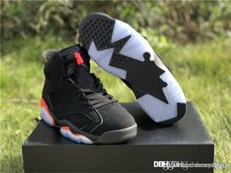 brand new f492c 7825b 2018 Authentic 2067Jordan 6 OG Black Infrared Retro Basketball Shoes Man  Pack Black Red Sports All-Star 384664-060 With Original Box