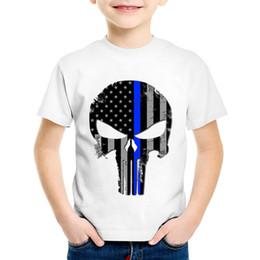 girls skull t shirt 2019 - Fashion Print Punisher Skull Children T-shirts Kids Cool Summer Short Sleeve Tees Boys Girls Casual Tops Baby Clothes,HK