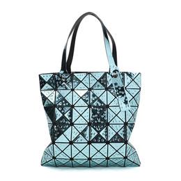 Chinese  Women Bag Folded Ladies luxury Handbag Women Bags Designer Laser Shoulder Bags Geometric Plaid Tote Bag bolsos mujer For Female manufacturers