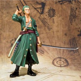 one piece toys zoro NZ - 15cm 6 inch One Piece Sauron Roronoa Zoro Two Years Later PVC Figure Toy Doll Model for Collection