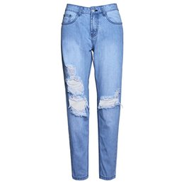 $enCountryForm.capitalKeyWord UK - Ripped Jeans Denim Joggers Knee Holes Slim Fit Jeans For Women Blue Rock Star Womens Jumpsuit Destroyed Jeans Boyfriend Pencil Pants