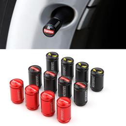 4 unids Accesorios de Automóviles Recortar Rueda Llanta Neumático Neumático Vástago Aire Cubierta de la tapa de polvo Piezas del coche Estilo de moda en venta