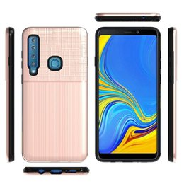 Cloth Armor Australia - 2 in 1 Dual Layer Cloth Pattern Slim Armor Case for Huawei P Smart Plus Honor 10 Lite Enjoy 9 Shockproof Cover