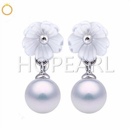 $enCountryForm.capitalKeyWord Australia - earring blank without pearl white shell little flower semi mount dangle earrings pearl accessories solid sterling silver