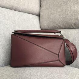 Multi Color Ladies Handbags Australia - Designer Bag Lady Luxury Handbag Women Bags Purses Loe Cow Genuine Leather Multi-color Geometric Women Shoulder Totes Crossbdy