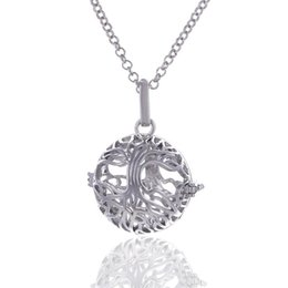 $enCountryForm.capitalKeyWord Australia - Baby Chime Necklace for pregnant Women Tree of Life Pendant Copper Metal Cage Locket Pendants with one cotton ball