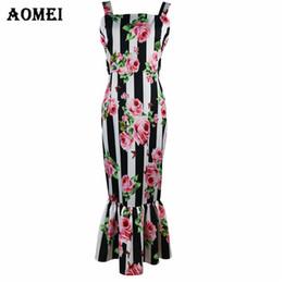 b216450692 Retro impreso vestido de tubo floral para las mujeres volantes de moda de  verano 2019 Lady Slim Fit Tight Bodycon noche fuera lápiz vestidos tanque  Y190425