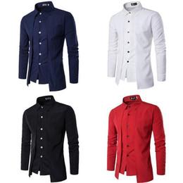 $enCountryForm.capitalKeyWord Australia - Pop Stylish Mens Formal Shirt Long Sleeve Slim Fit Solid Shirts Urban Dress Shirts Tops Nice Autumn