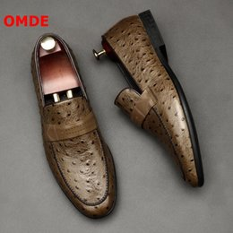 $enCountryForm.capitalKeyWord Australia - OMDE Luxury Handmade Mens Loafers Leather Slip On Men Shoes British Style Summer Business Men's Casual Shoes Prom Man
