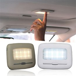 Blue night light BulBs online shopping - Automobile Reading Lights Car Highly Bright LED Touch Type Night Light K Pure White K Warm Yellow Car LED Lamp Bulbs