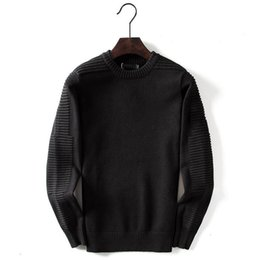 Wholesale solid blouse online – Designer Men Women Sweater Wool Luxury Casual Solid Winter Pullover Brand Blouse Long Sleeve SweatShirt Black Gray M XL CE