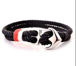 Marine Boot Anker Armband Männer Euramerican Street Knitting Handrope Studentinnen Einfache Paar Handwear im Angebot