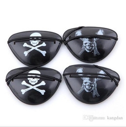 wholesale skull toys Australia - Plastic Pirate Eye Patch Mask Black Party Favors Skull Crossbone face masks Halloween party costumes Birthday Kids Toy Party Supplies prop