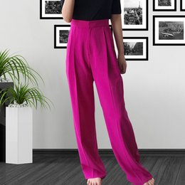 $enCountryForm.capitalKeyWord Australia - New European and American women's high waist slim wide leg pants fashionable casual pants women slimming wide leg trousers