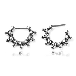 $enCountryForm.capitalKeyWord Australia - New Personality Fashion Skull Medical Steel Nose Ring Body Piercing Jewelry Pop Style Girl Jewelry Accessories