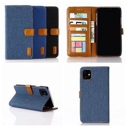 $enCountryForm.capitalKeyWord Australia - For Samsung Note 10 Pro S10 S10e S9 Jean Cloth Cowboy Leather Wallet Case Fashion Hybrid Hit Color PC Canvas ID Card Slot Holder Flip Cover