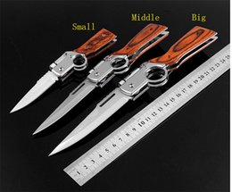 large camping knife Australia - Large Middle Small Stainless Steel Tactical Self Defense Folding Knife Outdoor Camping Gear Knife Pocket Knife Good Quality XMAS Gift