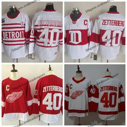 Cheap red wing jerseys online shopping - Mens Detroit Red Wings Henrik Zetterberg Jersey Vintage Home Red Henrik Zetterberg Stitched Hockey Jerseys Cheap th Classic C Patch